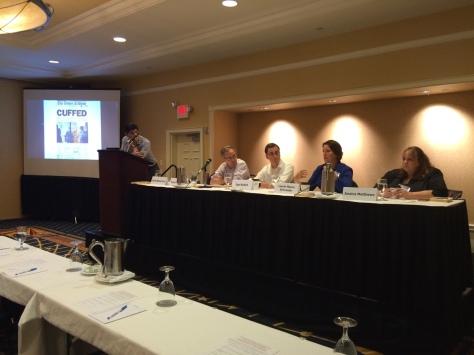 Eric Frein Panel order L to R: Moderator Scott Banchard, Tom DeSchriver, Joe Kohut, Laurie Mason Schroeder, Jessica Matthews
